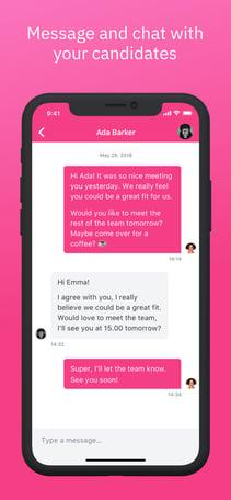 Teamtailor app message view