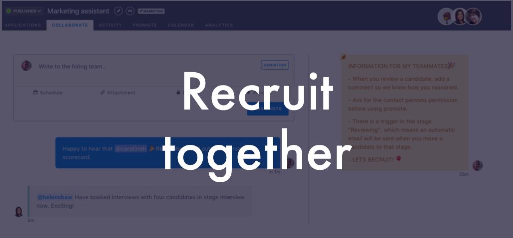 Recruit together blog header
