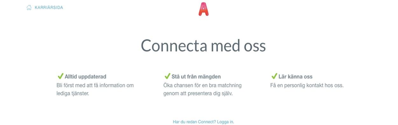 Snart lanseras Connect