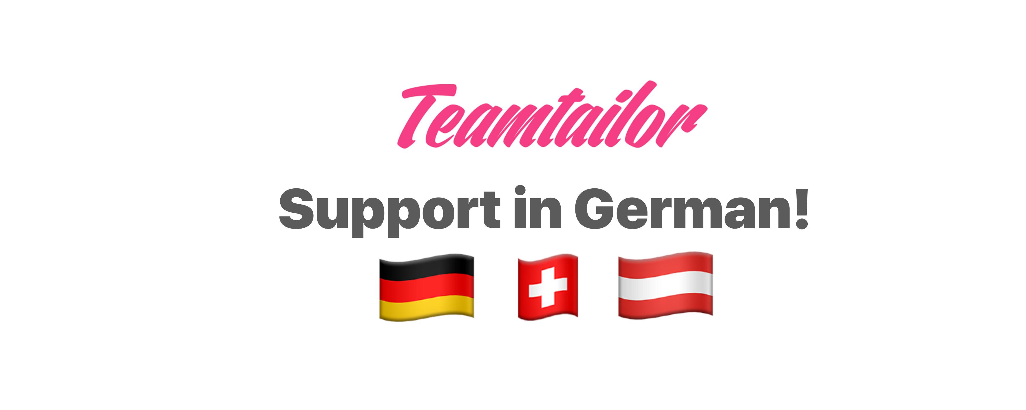 support in german header